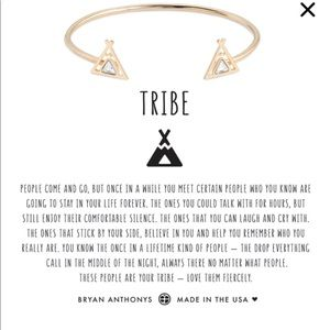TRIBE FRIENDSHIP CUFF by Bryan Anthony's gold